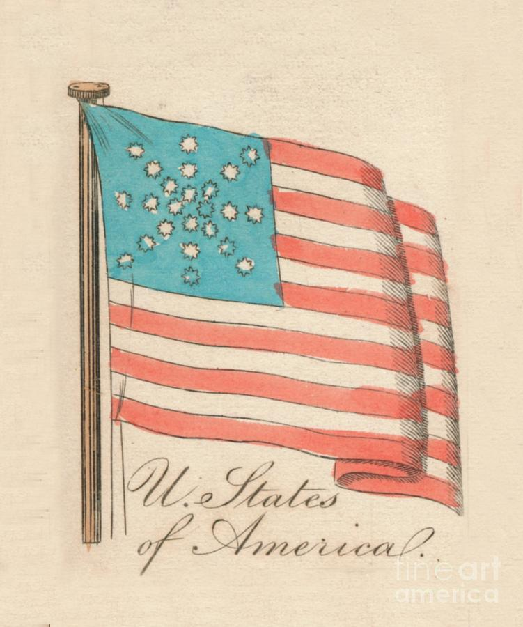 United States Of America, 1838 Drawing by Print Collector