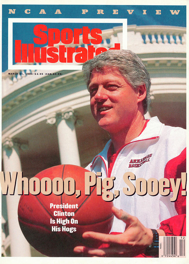United States President Bill Clinton Sports Illustrated Cover Photograph by Sports Illustrated