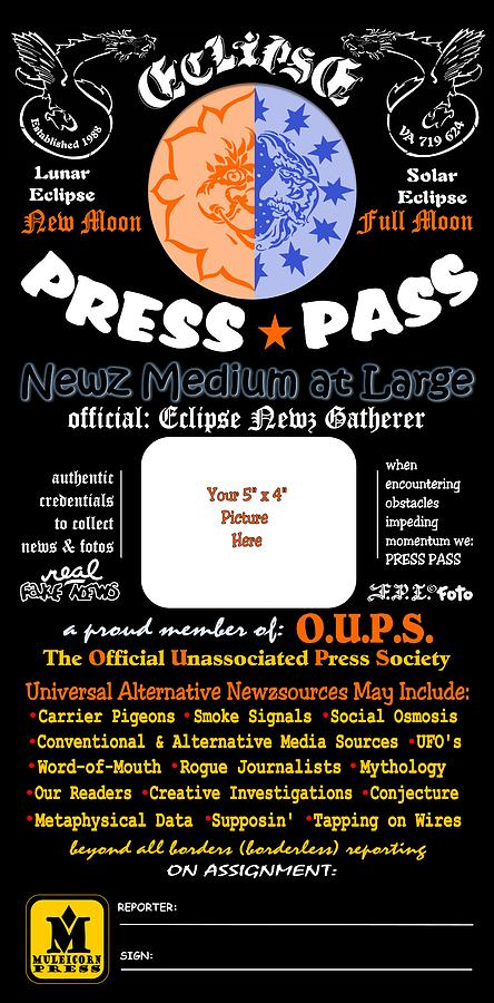 Universal Press Pass by Dawn Sperry
