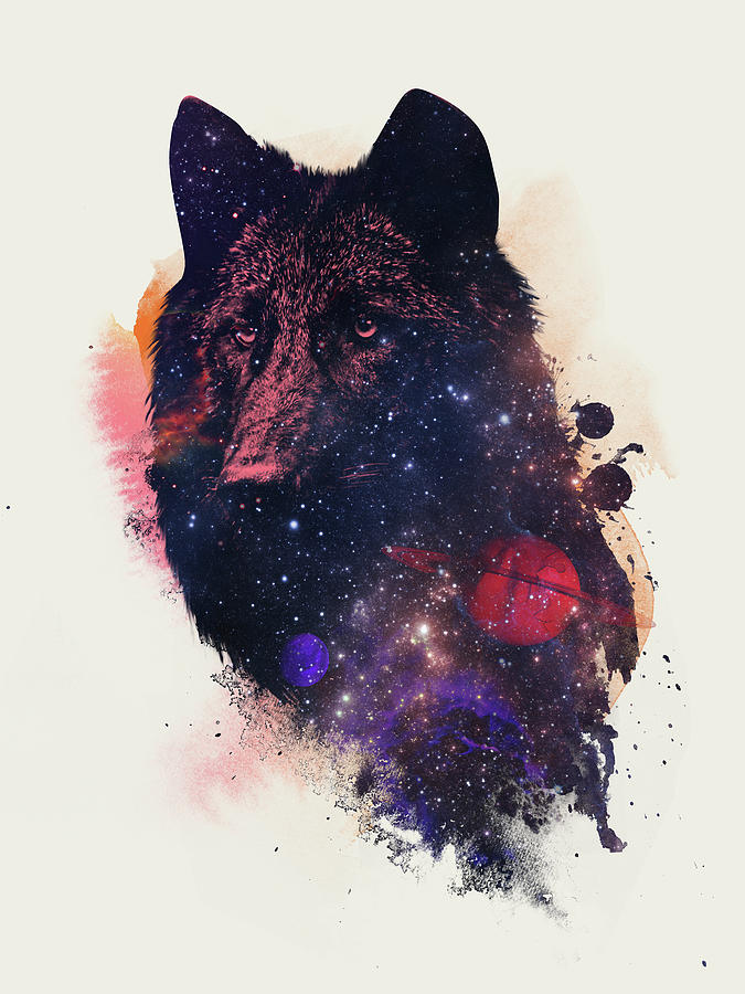 Animals Painting - Universal Wolf by Robert Farkas