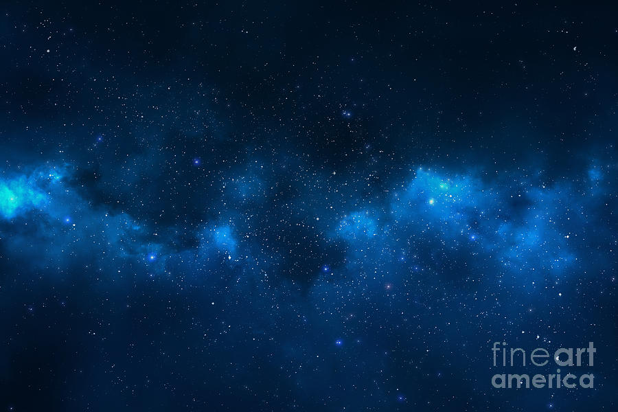 Big Photograph - Universe Filled With Stars, Nebula And by Pixelparticle