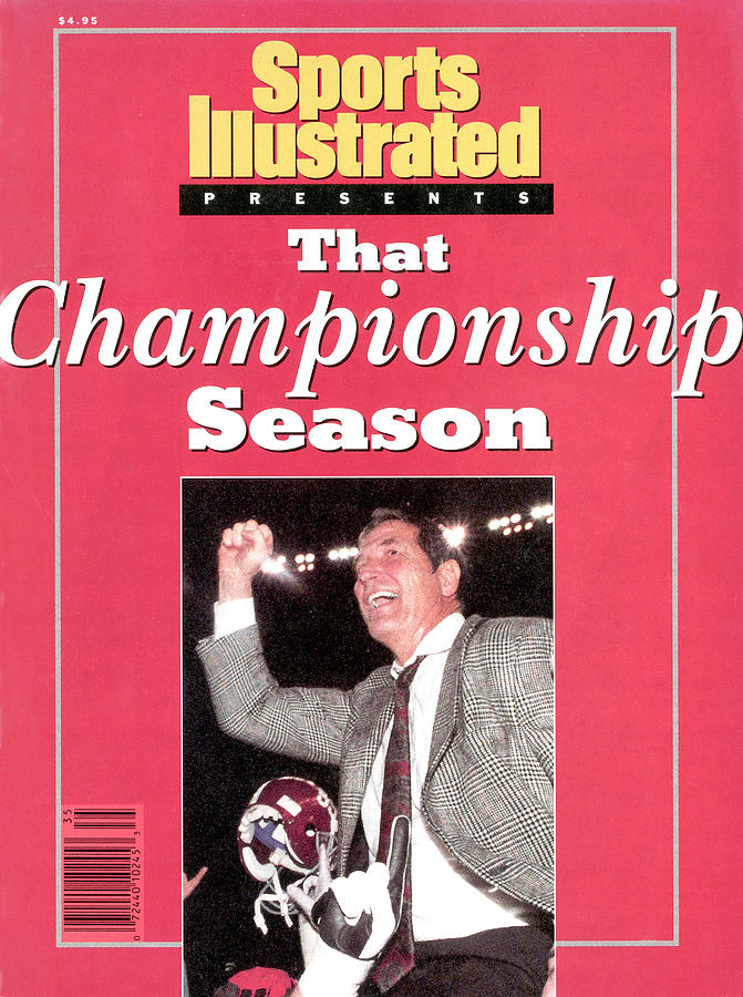 University Of Alabama Coach Gene Stallings, 1993 Usf&g Sports Illustrated Cover Photograph by Sports Illustrated