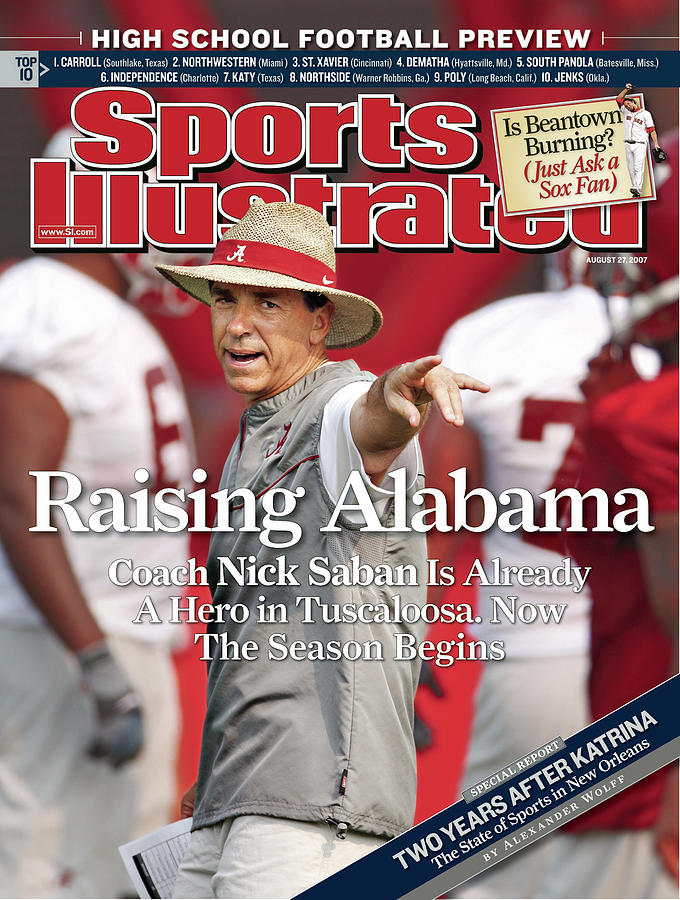 University Of Alabama Coach Nick Saban Sports Illustrated Cover Photograph by Sports Illustrated