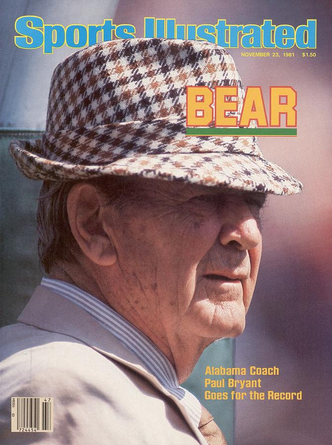University Of Alabama Coach Paul Bear Bryant Sports Illustrated Cover Photograph by Sports Illustrated