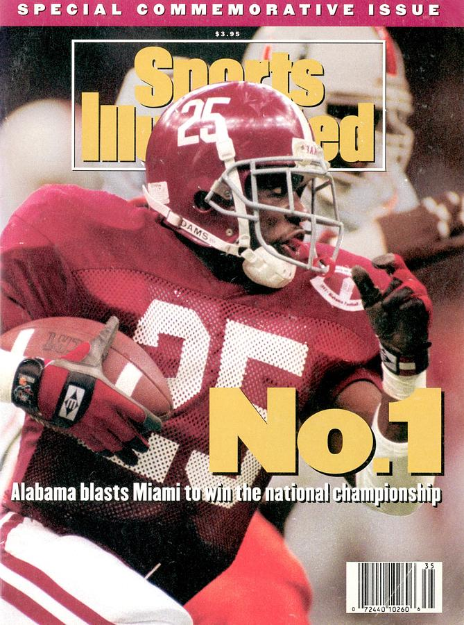 University Of Alabama Derrick Lassic, 1993 Usf&g Financial Sports Illustrated Cover Photograph by Sports Illustrated