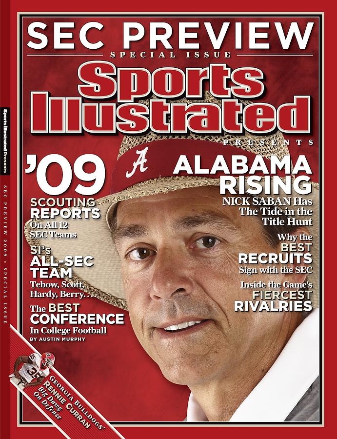 University Of Alabama Head Coach Nick Saban Sports Illustrated Cover Photograph by Sports Illustrated