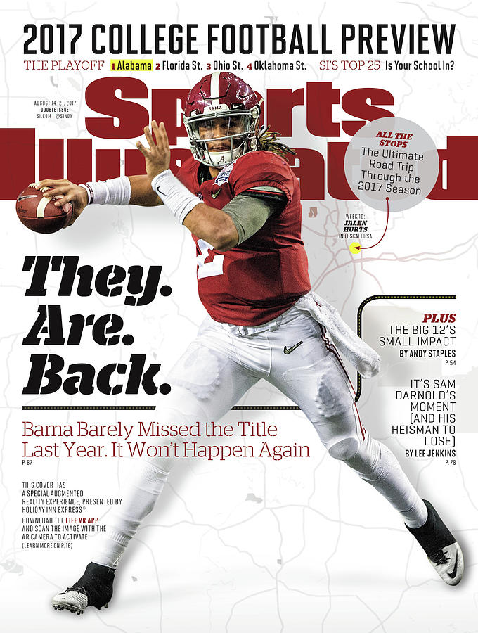 University Of Alabama Jalen Hurts, 2017 College Football Sports Illustrated Cover Photograph by Sports Illustrated