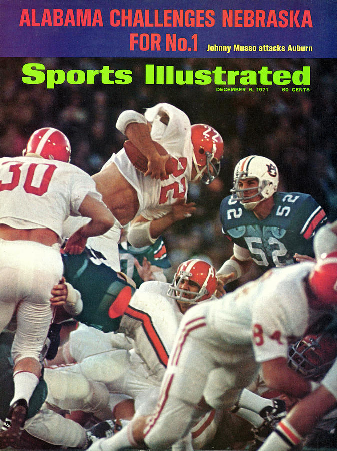 Magazine Cover Photograph - University Of Alabama Johnny Musso Sports Illustrated Cover by Sports Illustrated