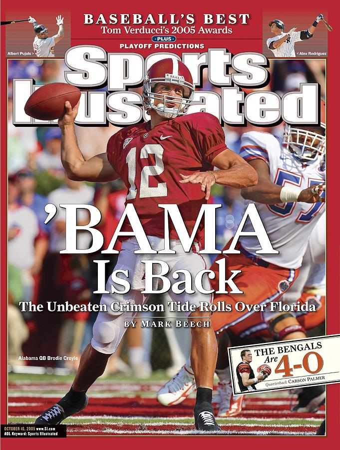 University Of Alabama Qb Brodie Croyle Sports Illustrated Cover Photograph by Sports Illustrated