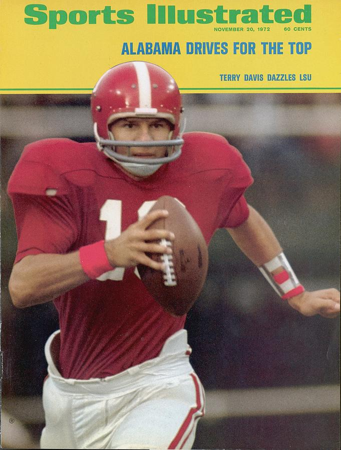 University Of Alabama Qb Terry Davis Sports Illustrated Cover Photograph by Sports Illustrated