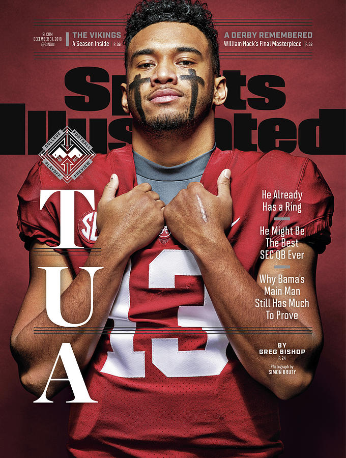 University Of Alabama Qb Tua Tagovailoa, 2018 College Sports Illustrated Cover Photograph by Sports Illustrated