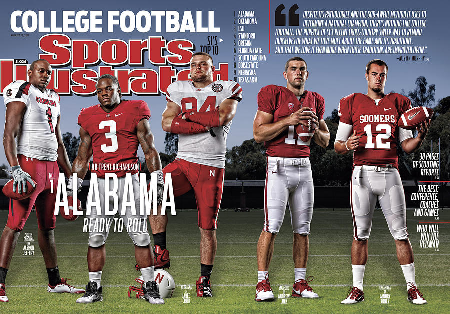 University Of Alabama Trent Richardson, 2011 College Sports Illustrated Cover Photograph by Sports Illustrated