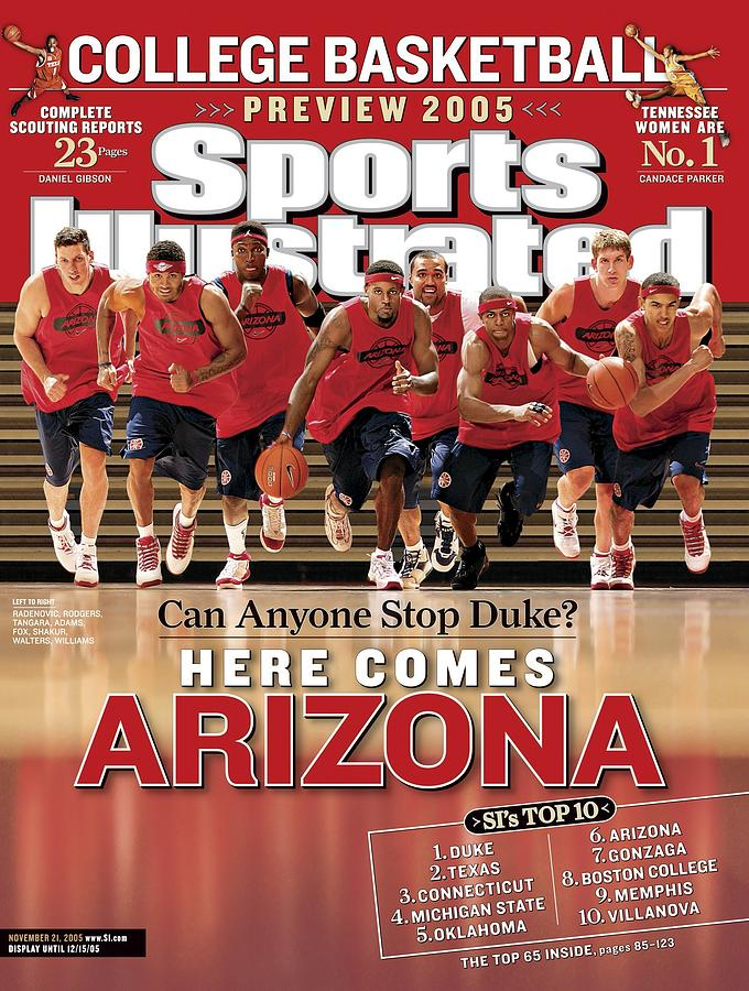University Of Arizona Basketball Team Sports Illustrated Cover Photograph by Sports Illustrated