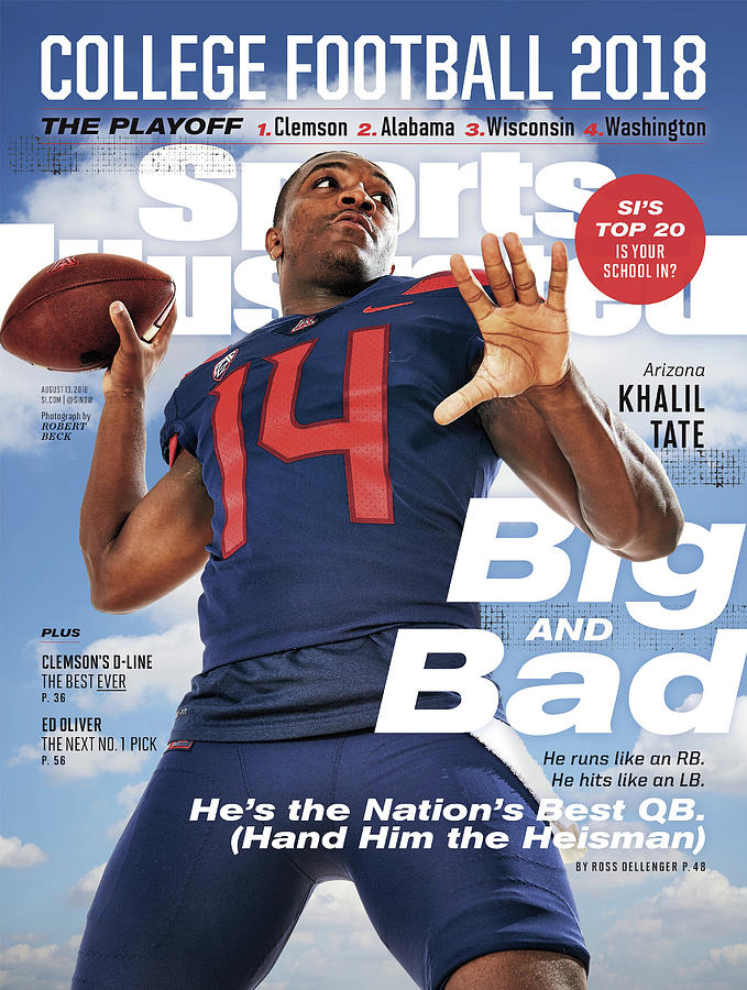 University Of Arizona Khalil Tate, 2018 College Football Sports Illustrated Cover Photograph by Sports Illustrated