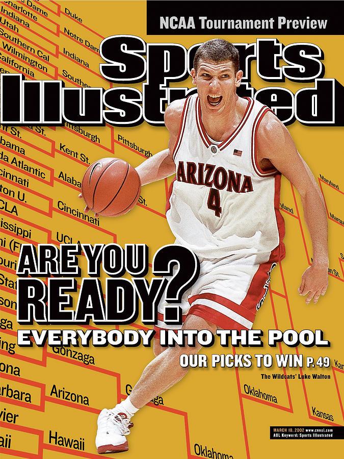 University Of Arizona Luke Walton, 2002 Ncaa Tournament Sports Illustrated Cover Photograph by Sports Illustrated