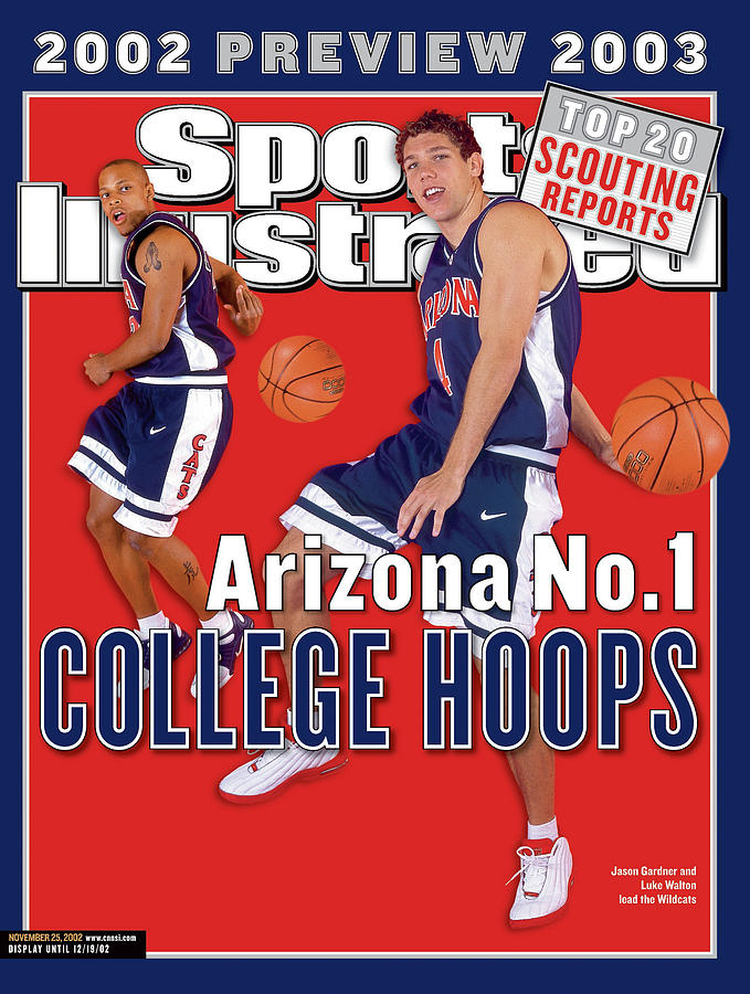 University Of Arizona Luke Walton And Jason Gardner Sports Illustrated Cover Photograph by Sports Illustrated