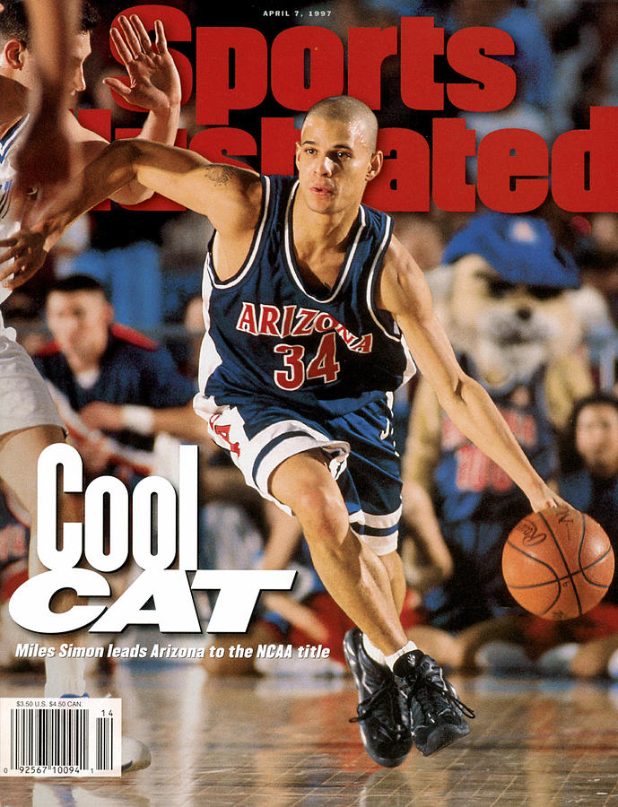 University Of Arizona Miles Simon, 1997 Ncaa National Sports Illustrated Cover Photograph by Sports Illustrated