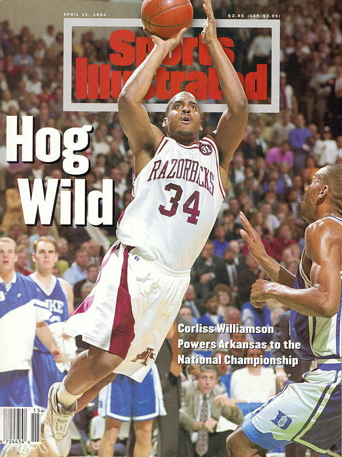 University Of Arkansas Corliss Williamson, 1994 Ncaa Sports Illustrated Cover Photograph by Sports Illustrated
