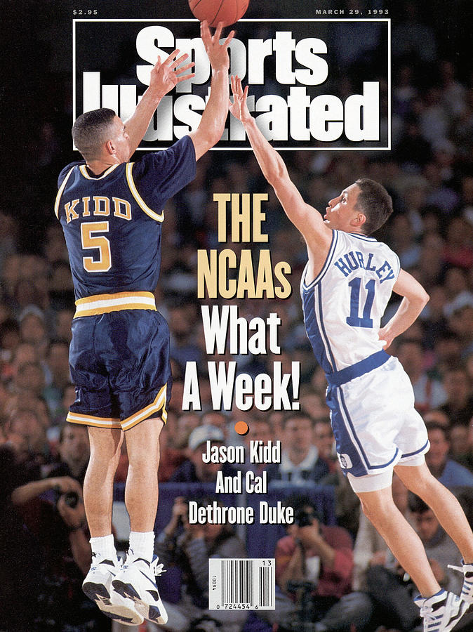 University Of California Jason Kidd, 1993 Ncaa Midwest Sports Illustrated Cover Photograph by Sports Illustrated