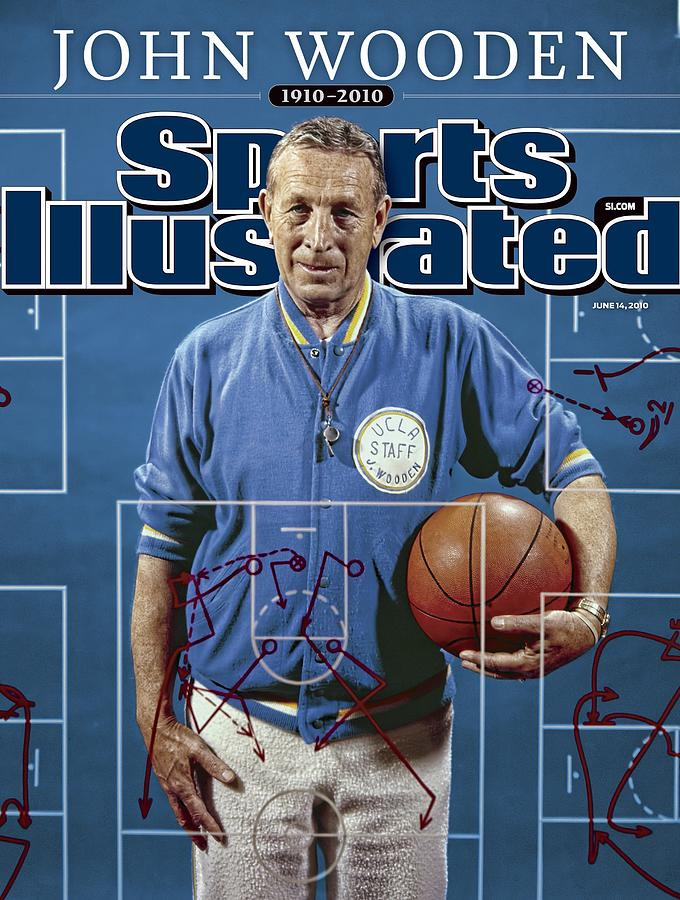 University Of California Los Angeles Coach John Wooden Sports Illustrated Cover Photograph by Sports Illustrated