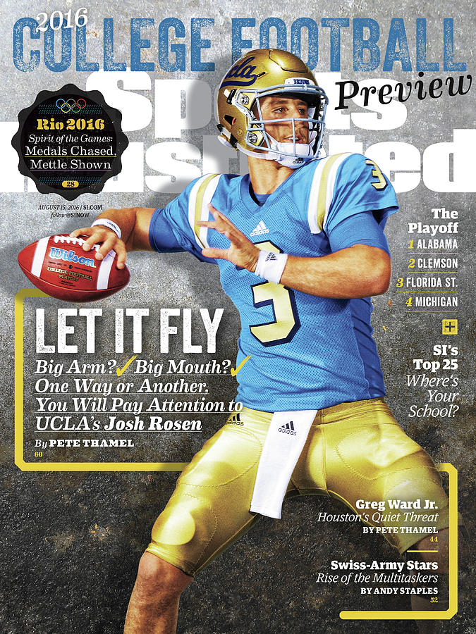 University Of California Los Angeles Josh Rosen, 2016 Sports Illustrated Cover Photograph by Sports Illustrated