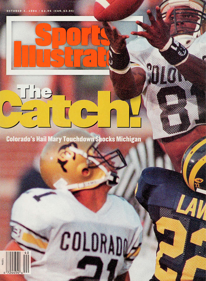 University Of Colorado Michael Westbrook Sports Illustrated Cover Photograph by Sports Illustrated