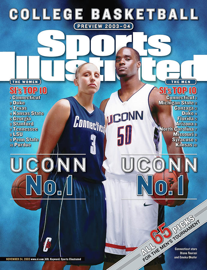 University Of Connecticut Diana Taurasi And Emeka Okafor Sports Illustrated Cover Photograph by Sports Illustrated