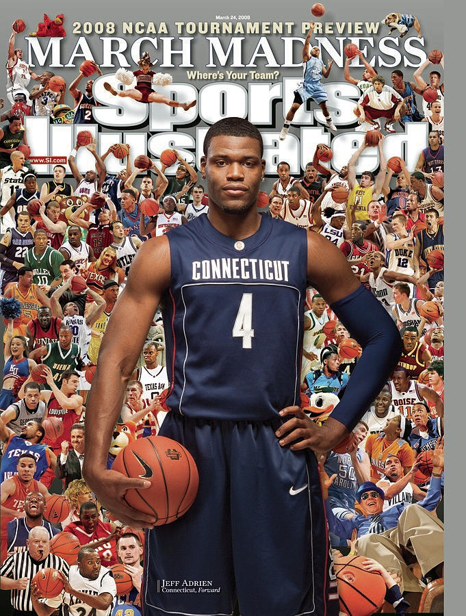 University Of Connecticut Jeff Adrien, 2008 Ncaa Tournament Sports Illustrated Cover Photograph by Sports Illustrated
