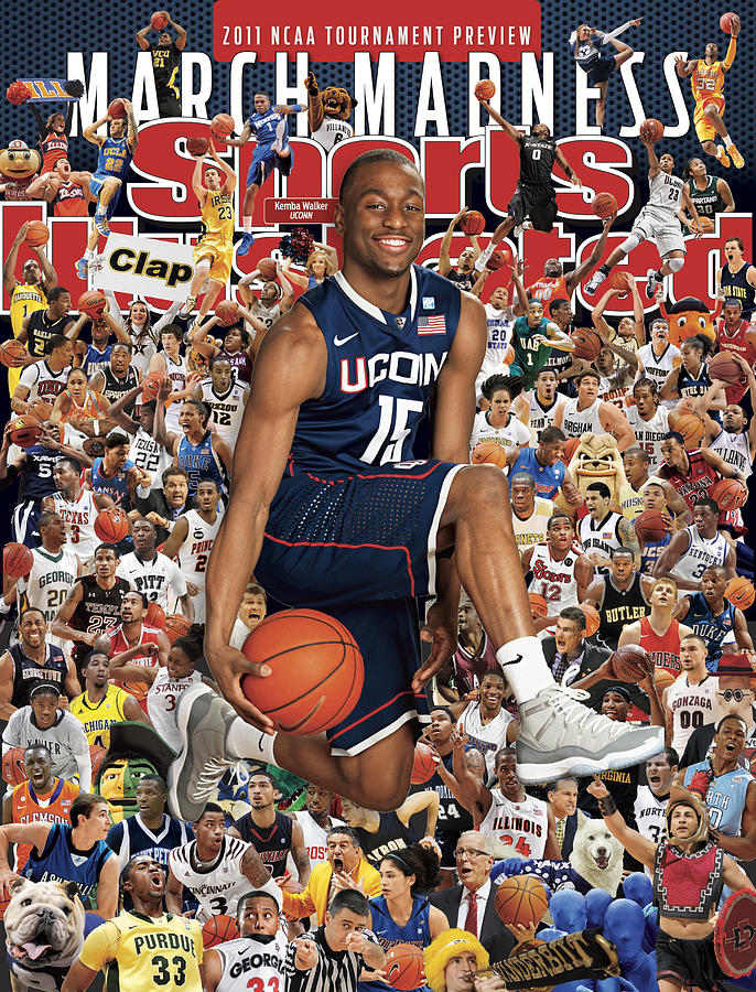 University Of Connecticut Kemba Walker, 2011 March Madness Sports Illustrated Cover Photograph by Sports Illustrated
