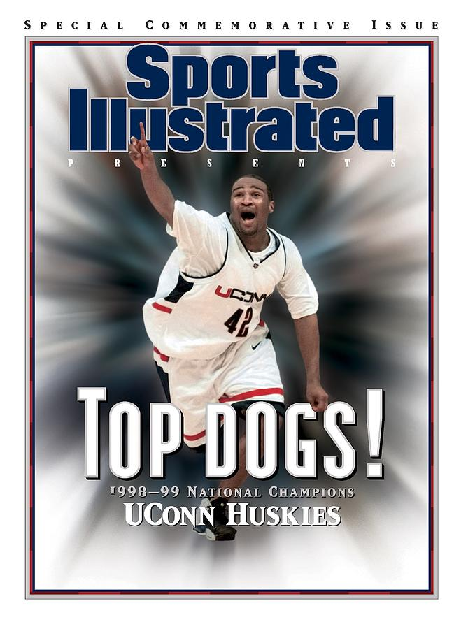 University Of Connecticut Khalid El-amin, 1999 Ncaa Sports Illustrated Cover Photograph by Sports Illustrated