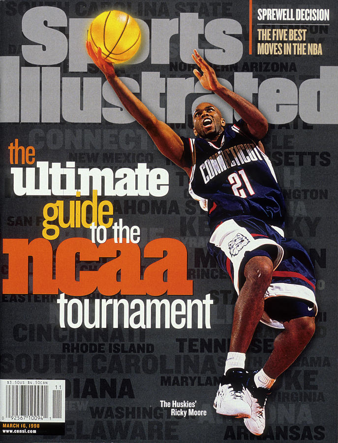 University Of Connecticut Ricky Moore, 1997 Ncaa Tournament Sports Illustrated Cover Photograph by Sports Illustrated