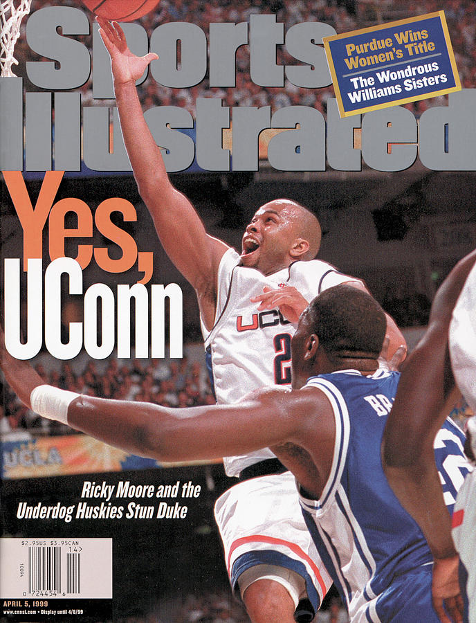 University Of Connecticut Ricky Moore, 1999 Ncaa National Sports Illustrated Cover Photograph by Sports Illustrated