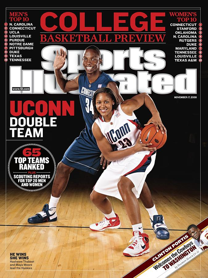 University Of Conneticut Hasheem Thabeet And Maya Moore Sports Illustrated Cover Photograph by Sports Illustrated