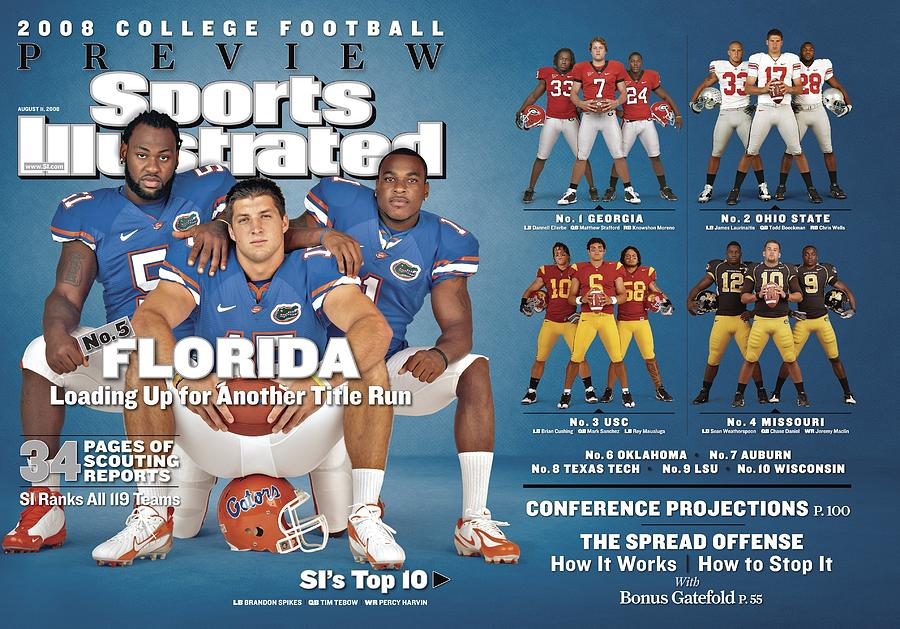 University Of Florida, 2008 College Football Preview Issue Sports Illustrated Cover Photograph by Sports Illustrated
