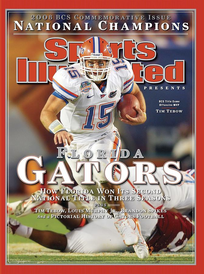 University Of Florida Florida Qb Tim Tebow, 2009 Fedex Bcs Sports Illustrated Cover Photograph by Sports Illustrated