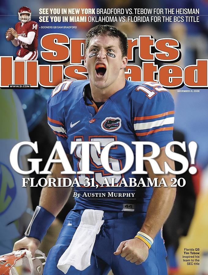 University Of Florida Qb Tim Tebow, 2008 Sec Championship Sports Illustrated Cover Photograph by Sports Illustrated