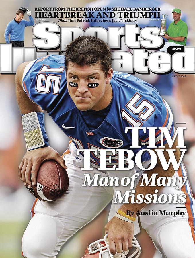 University Of Florida Qb Tim Tebow Sports Illustrated Cover Photograph by Sports Illustrated