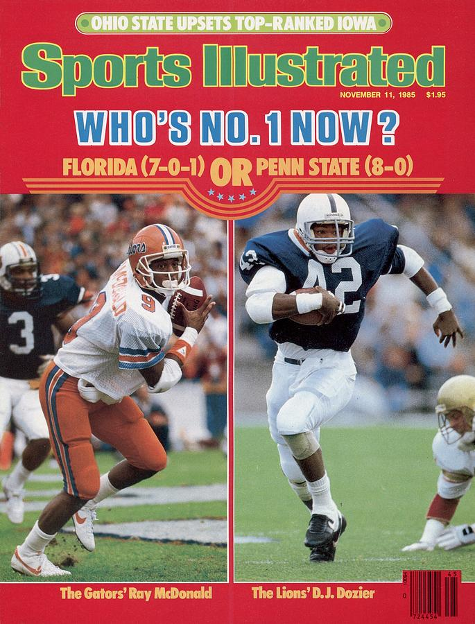University Of Florida Ray Mcdonald And Penn State D.j Sports Illustrated Cover Photograph by Sports Illustrated