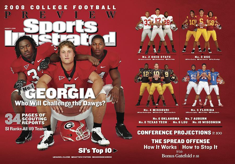 University Of Georgia, 2008 College Football Preview Issue Sports Illustrated Cover Photograph by Sports Illustrated
