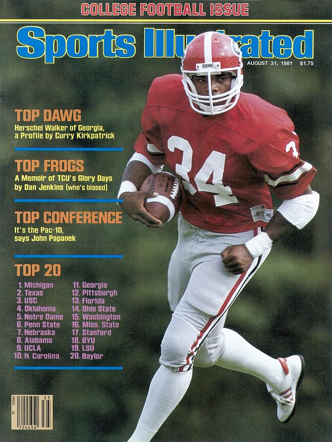 University Of Georgia Herschel Walker Sports Illustrated Cover Photograph by Sports Illustrated