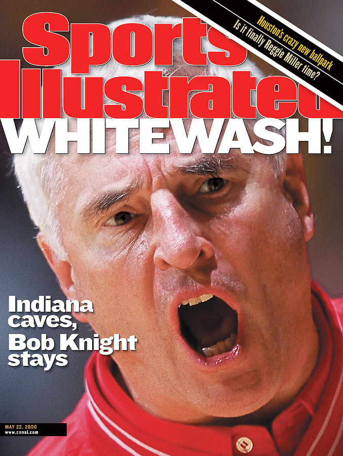 University Of Indiana Coach Bob Knight Sports Illustrated Cover Photograph by Sports Illustrated