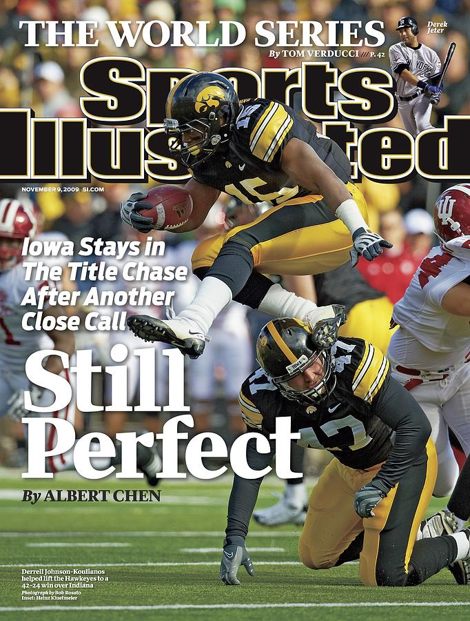 University Of Iowa Derrell Johnson-koulianos Sports Illustrated Cover Photograph by Sports Illustrated