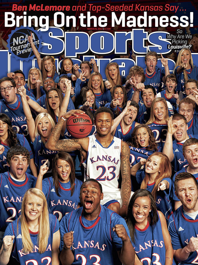 University Of Kansas Ben Mclemore, 2013 March Madness Sports Illustrated Cover Photograph by Sports Illustrated
