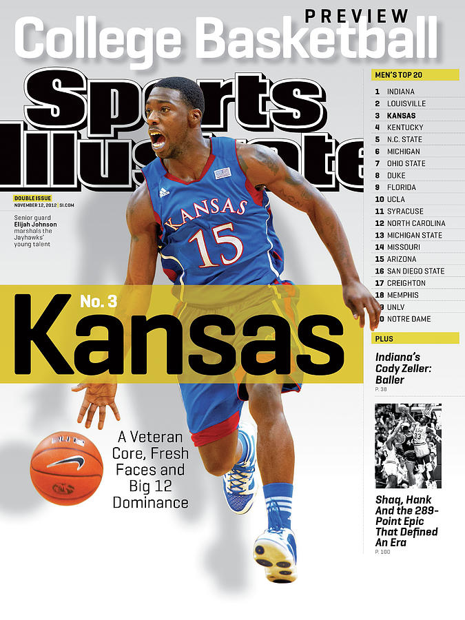 University Of Kansas Elijah Johnson, 2012-13 College Sports Illustrated Cover Photograph by Sports Illustrated