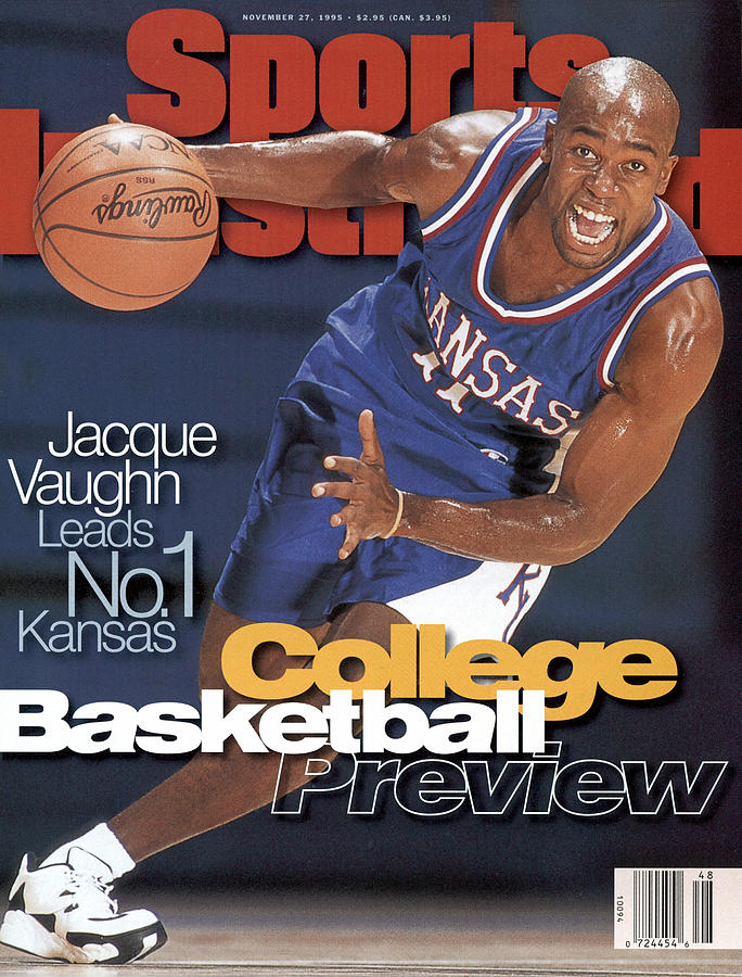 University Of Kansas Jacque Vaughn, 1995-96 College Sports Illustrated Cover Photograph by Sports Illustrated