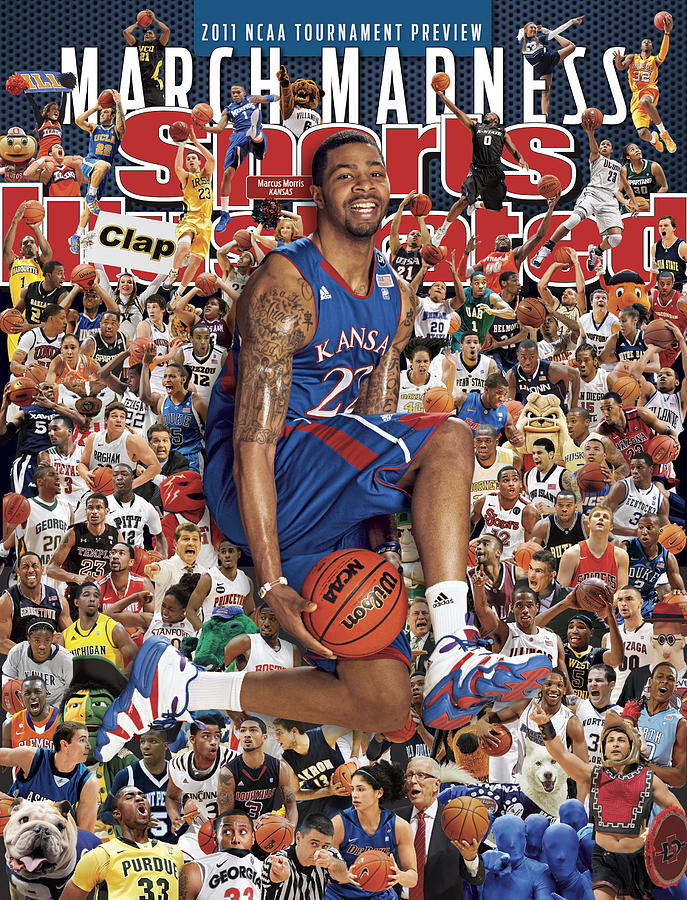 University Of Kansas Marcus Morris, 2011 March Madness Sports Illustrated Cover Photograph by Sports Illustrated