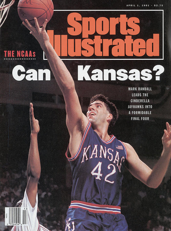 University Of Kansas Mark Randall, 1991 Ncaa Southeast Sports Illustrated Cover Photograph by Sports Illustrated