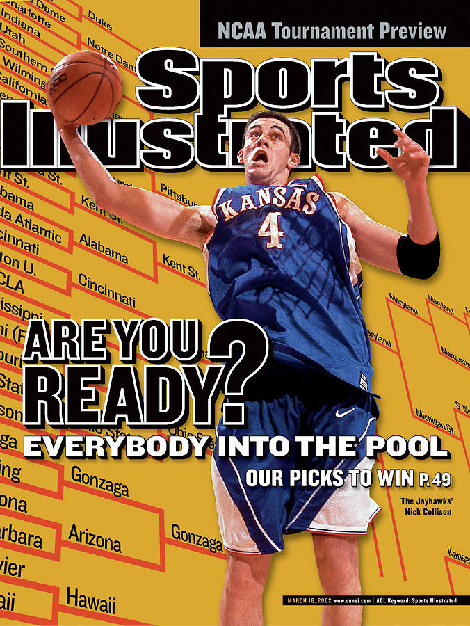 University Of Kansas Nick Collison, 2002 Ncaa Tournament Sports Illustrated Cover Photograph by Sports Illustrated