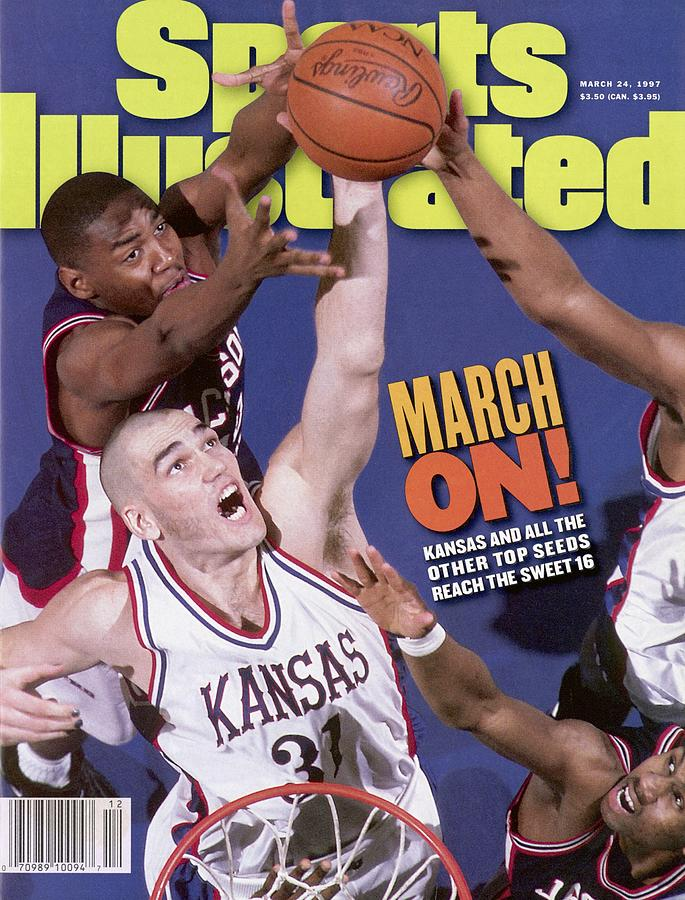 University Of Kansas Scot Pollard, 1997 Ncaa Southeast Sports Illustrated Cover Photograph by Sports Illustrated
