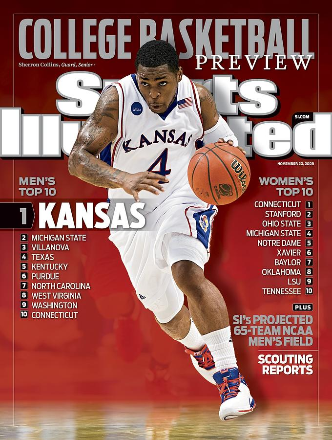 University Of Kansas Sherron Collins, 2009 Ncaa Midwest Sports Illustrated Cover Photograph by Sports Illustrated